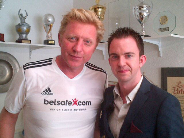 Eoin with 6-time Grand Slam tennis champion (and possibly the best-known Bayern Munic Fan) Boris Becker